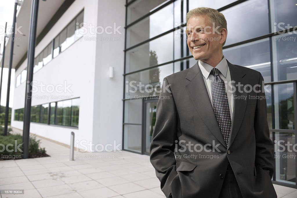 smart mature businessman royalty-free stock photo