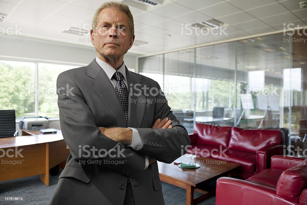 smart mature businessman royalty-free stock photo