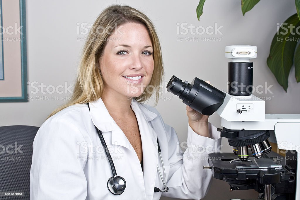 Smart Medical Research Woman royalty-free stock photo