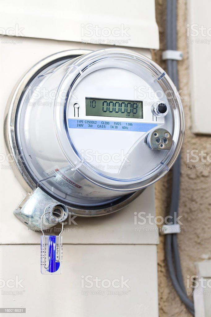 Smart Meter - Electrical royalty-free stock photo