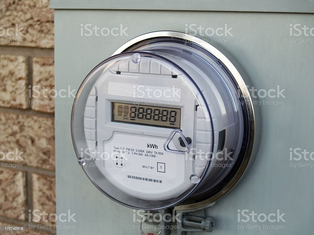 Smart Meter royalty-free stock photo