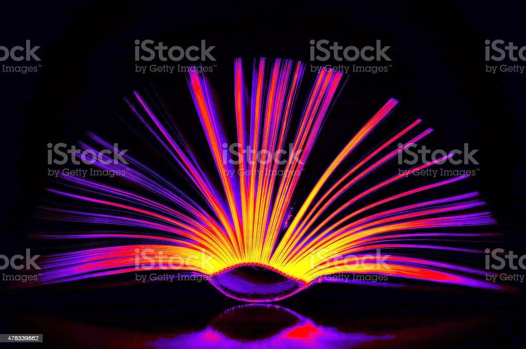 smart open book art colored stock photo