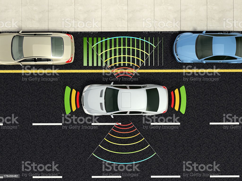Smart Park Assist stock photo
