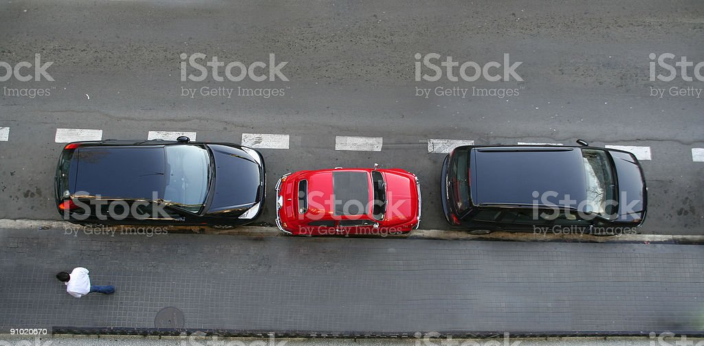 Smart parking stock photo