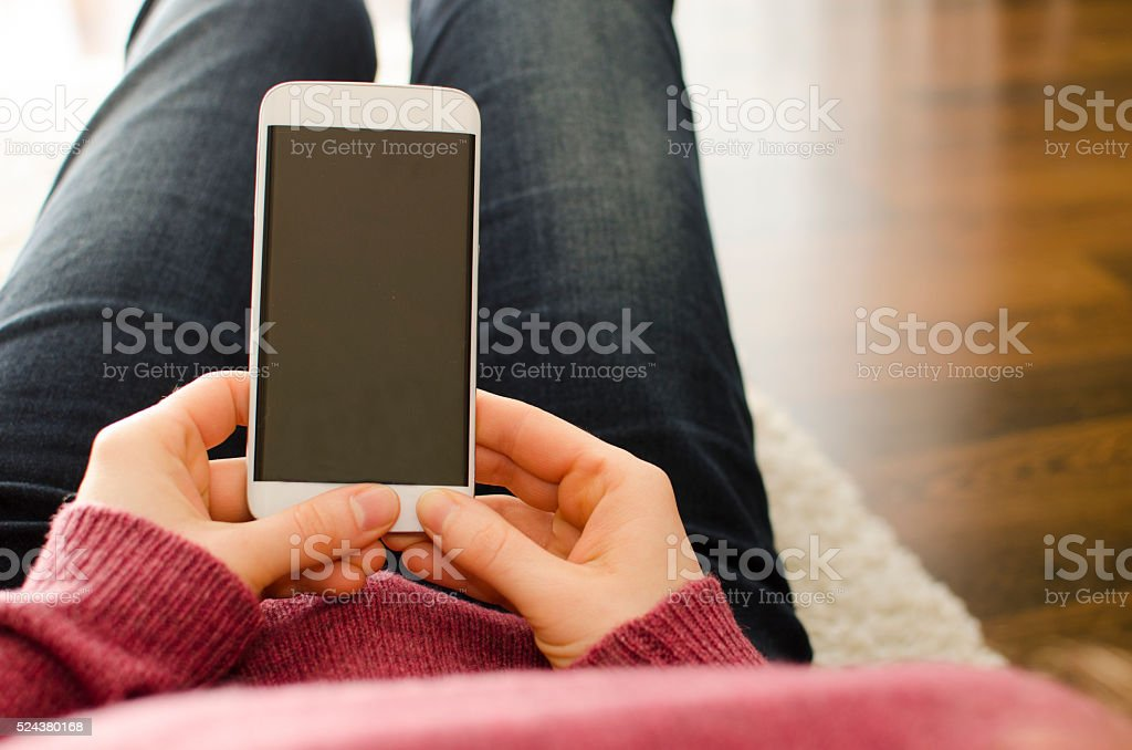 Smart phone background stock photo