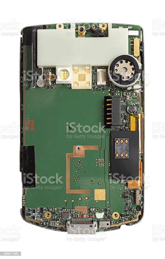smart phone circuit board isolated royalty-free stock photo