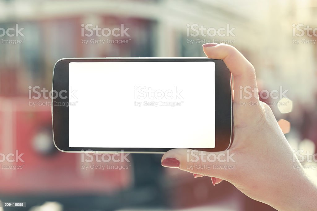 Smart phone + clipping pad (Click for more) stock photo