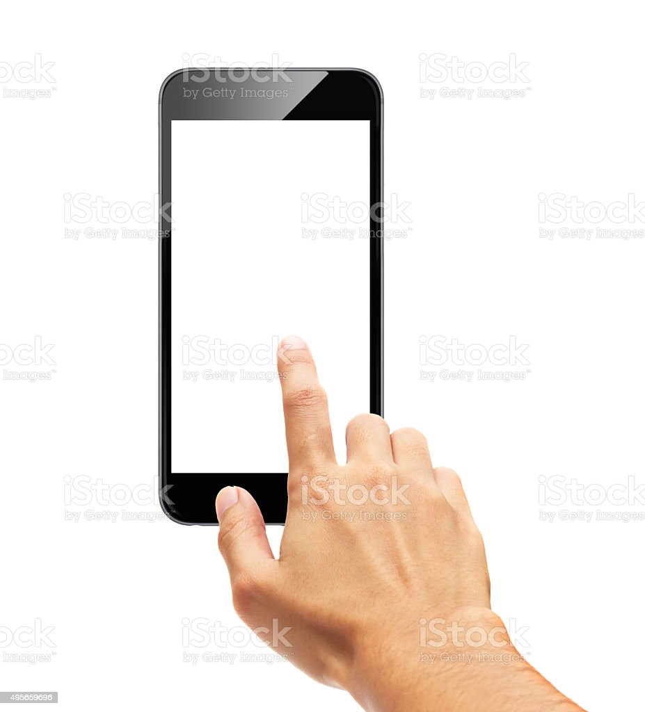 Smart phone - Finger Touch screen stock photo