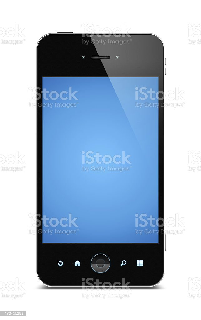 Smart phone (Clipping path) isolated on white background stock photo