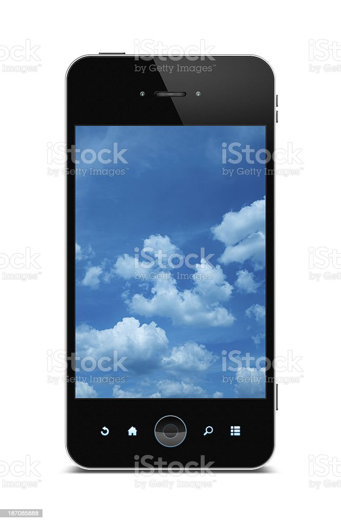 Smart Phone (Clipping path!) isolated on white background royalty-free stock photo