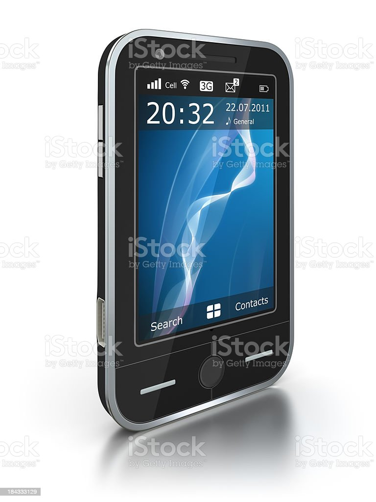 Smart phone - isolated on white with clipping path royalty-free stock photo