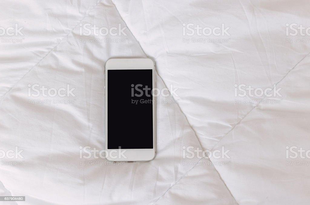 Smart phone like human stock photo