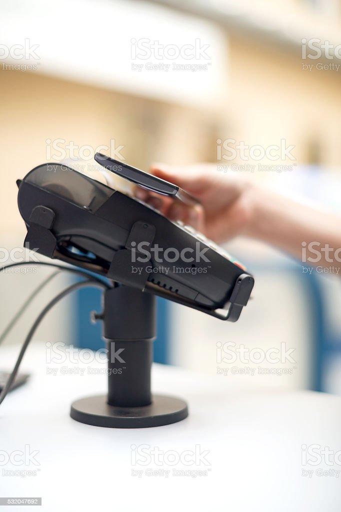 Smart phone paying stock photo