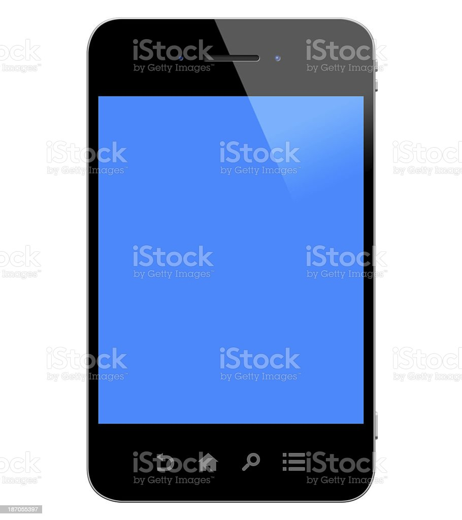 Smart Phone (Clipping Path) royalty-free stock photo