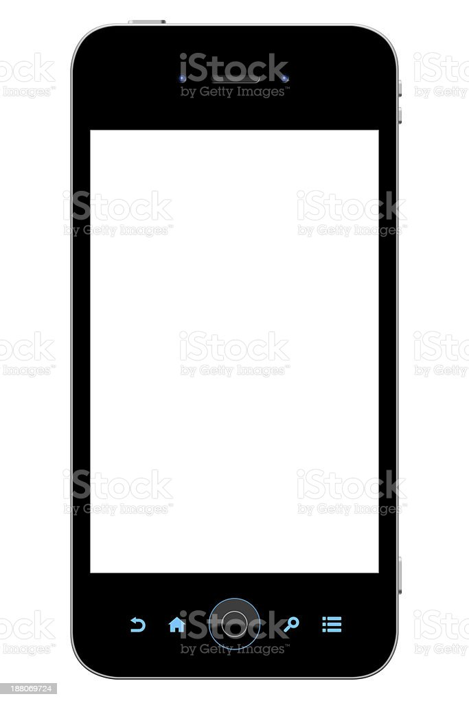 Smart phone (Clipping paths) royalty-free stock photo