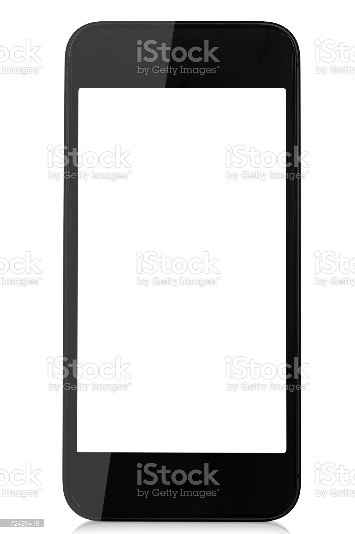 Smart phone with a blank screen royalty-free stock photo