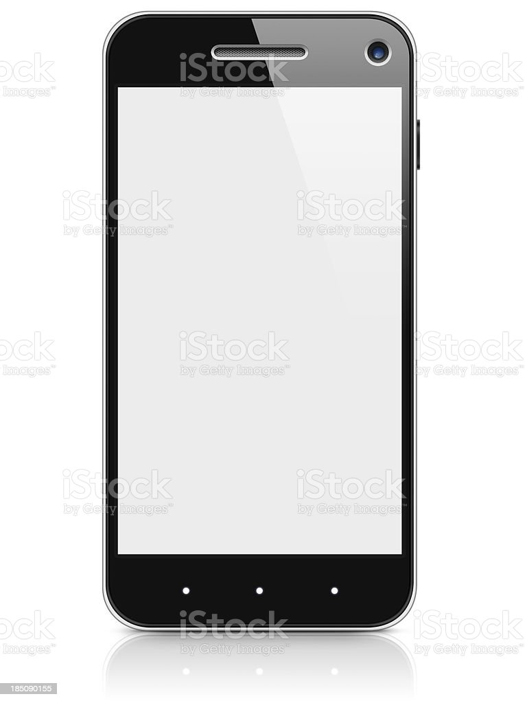 Smart Phone with Blank Screen, Copy Space, and Clipping Path stock photo