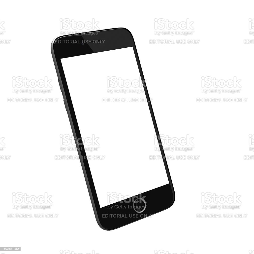 Smart Phone with blank screen stock photo