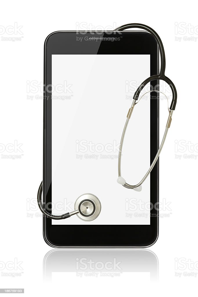 Smart Phone with stethoscope royalty-free stock photo
