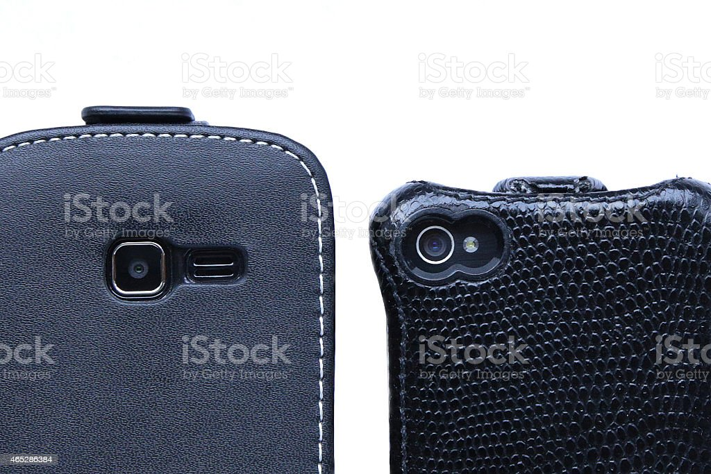 smart phones looking at you stock photo