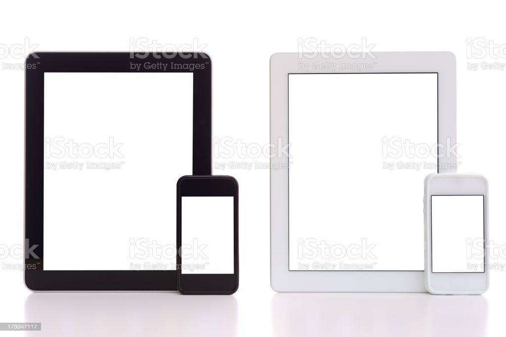 Smart phones & tablet pcs royalty-free stock photo