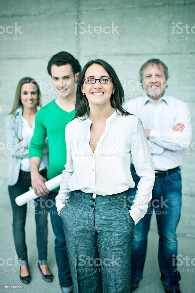 Smart professionals royalty-free stock photo