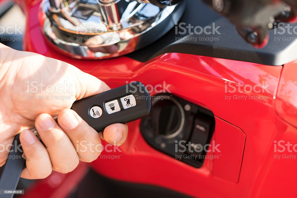 Smart Remote , Smart Key for motorcycle stock photo