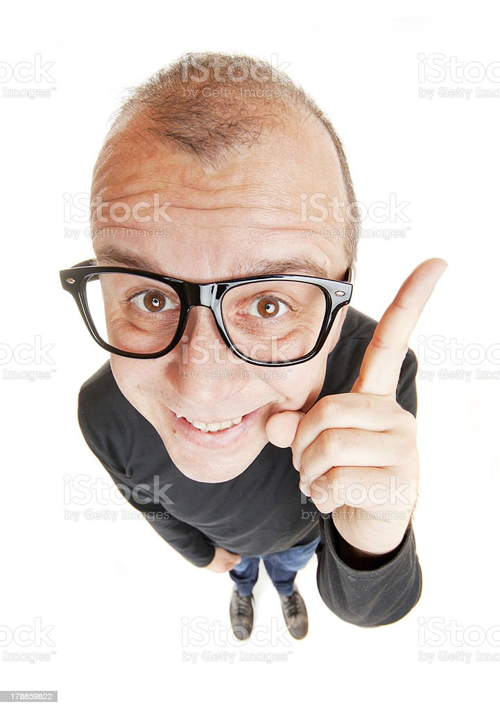 Smart salesman stock photo