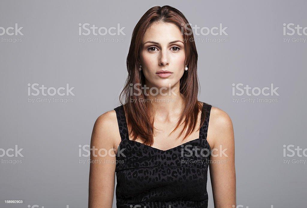 Smart Serious Woman royalty-free stock photo