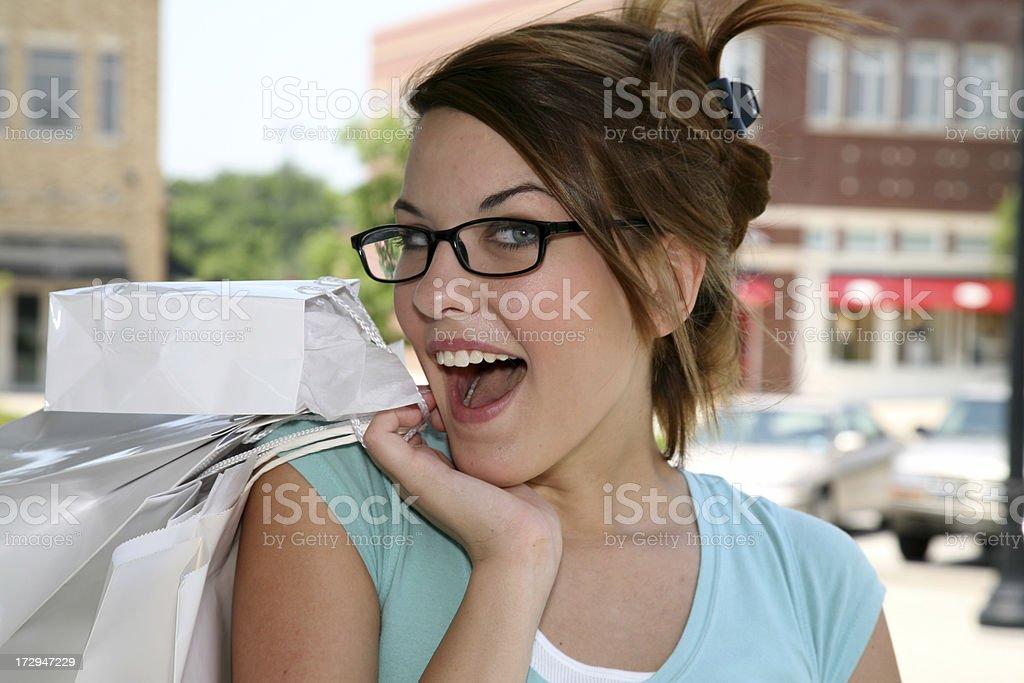 Smart Shopper royalty-free stock photo