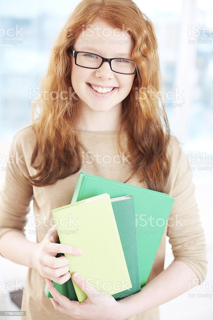 Smart student royalty-free stock photo