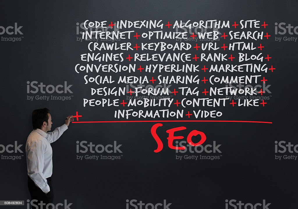 Smart Teacher Presents: The Calculation of a Seo stock photo