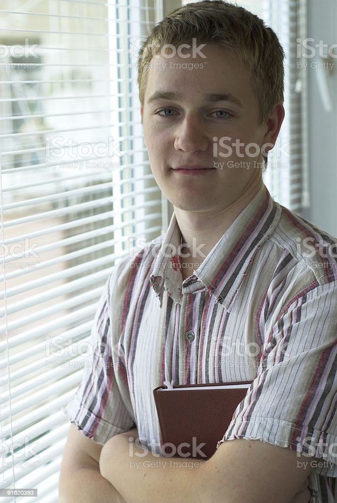 Smart teenager royalty-free stock photo