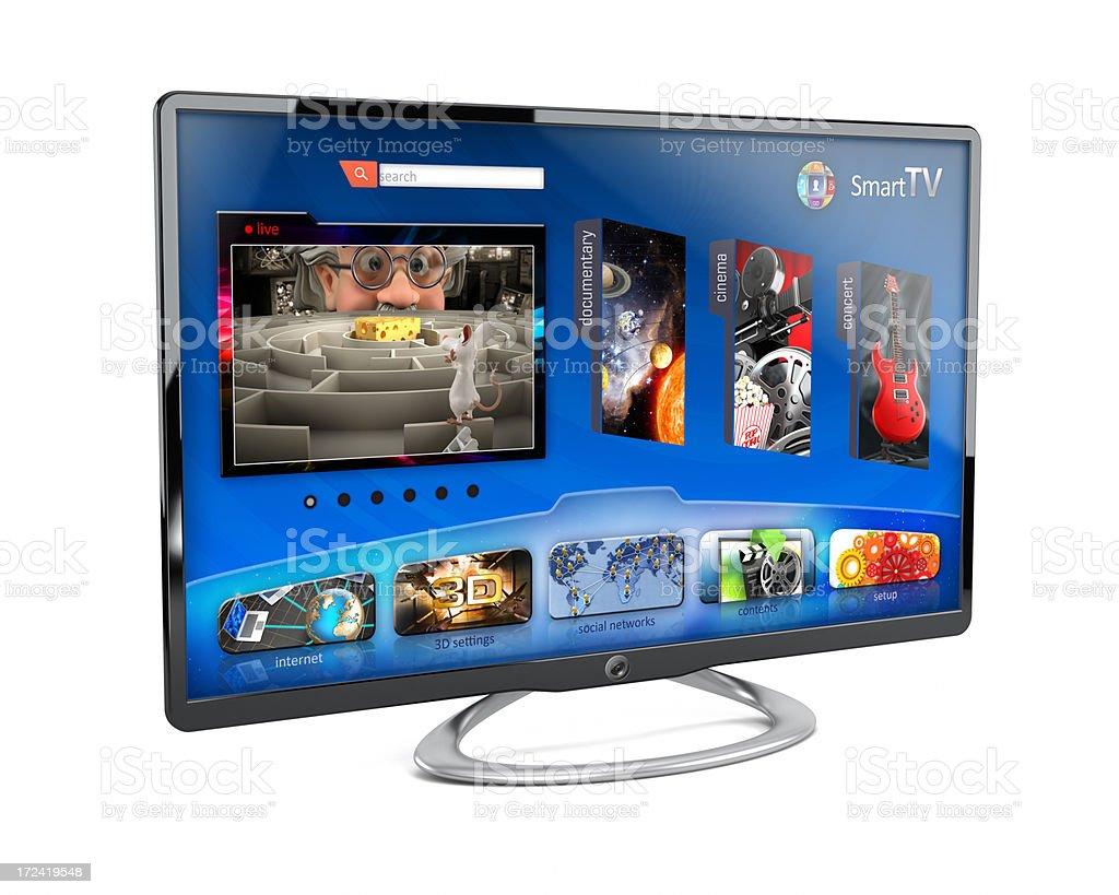 Smart television isolated on white background royalty-free stock photo