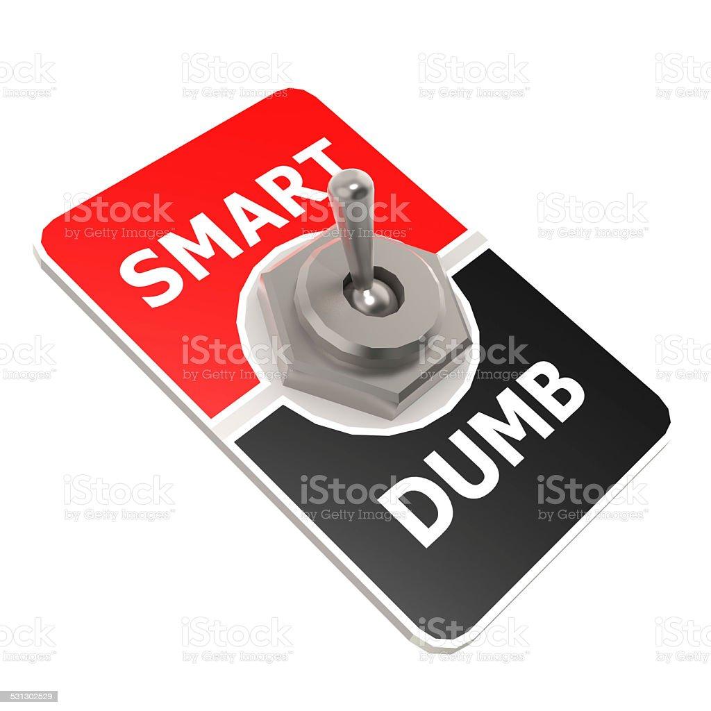 Smart toggle switch stock photo