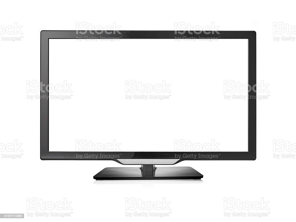 Smart TV isolated on white stock photo