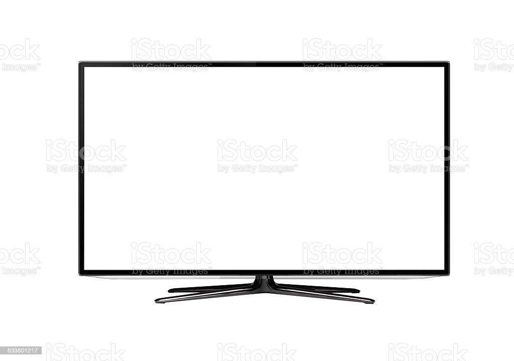 smart tv vector art illustration