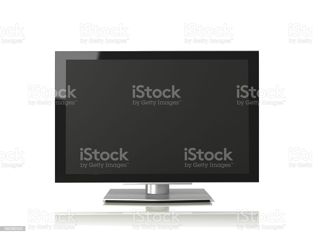 Smart tv television flat screen led isolated stock photo