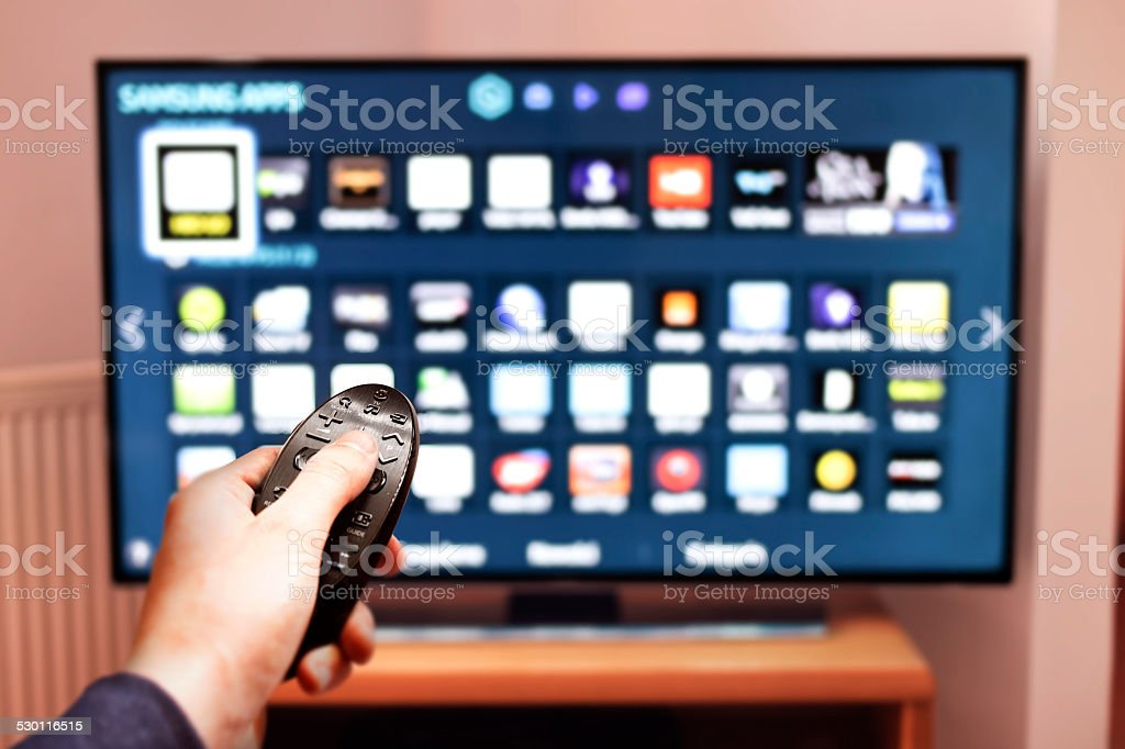 Smart tv UHD 4K stock photo