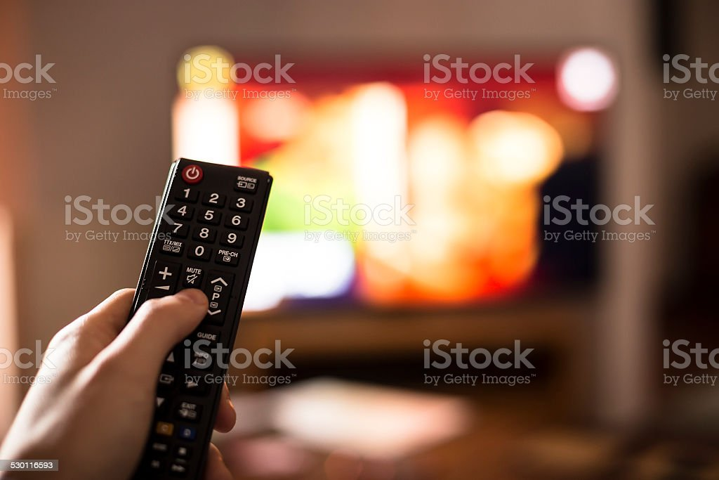Smart tv UHD 4K stock photo