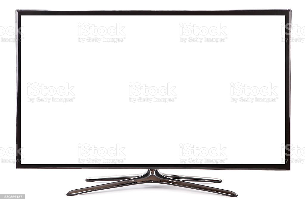 Smart tv widescreen led tv monitor stock photo