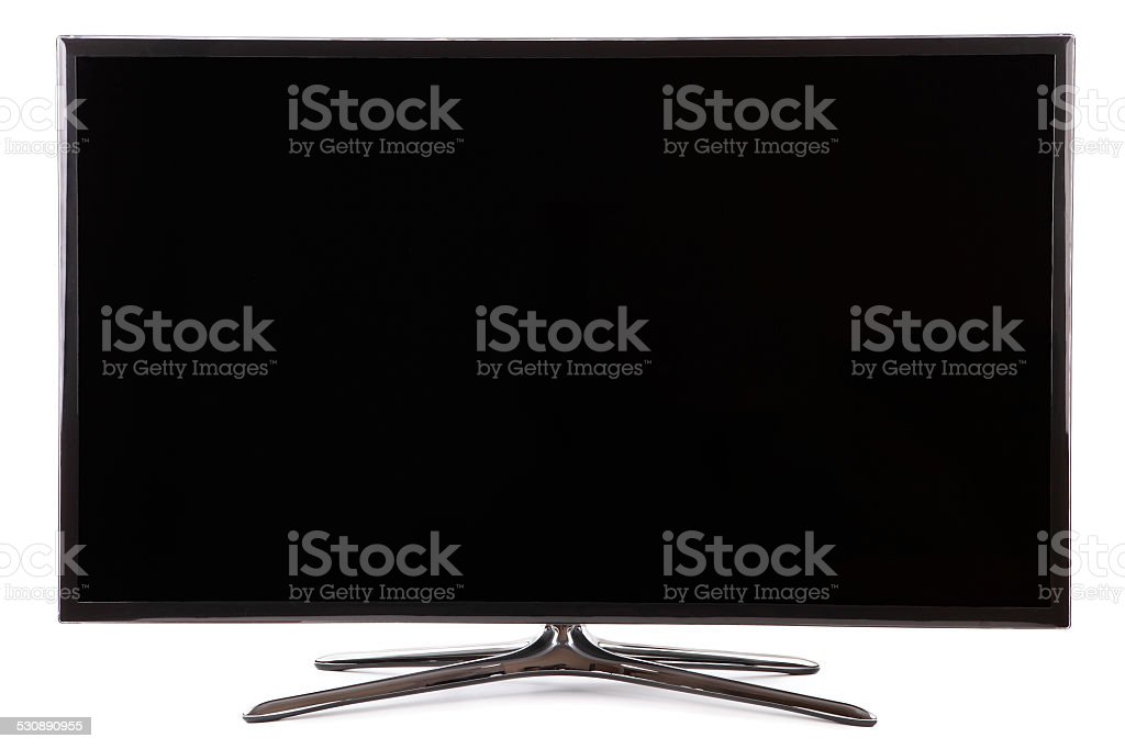 Smart tv widescreen led tv stock photo