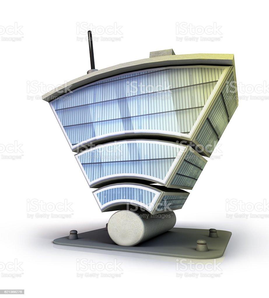 Smart wireless building stock photo