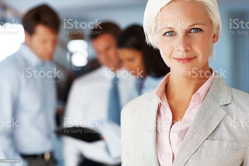 Smart young business executive at office stock photo