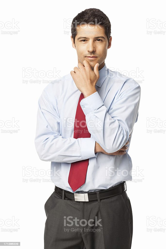 Smart Young Businessman - Isolated stock photo
