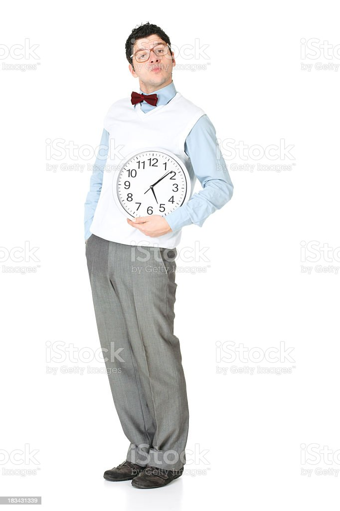 Smart young businessman stock photo
