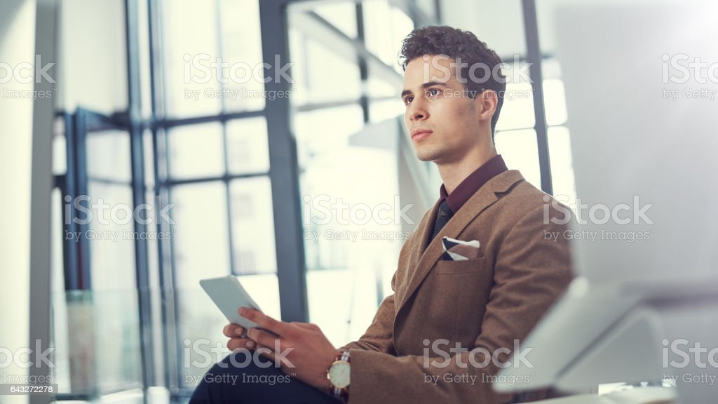Smarter technology, smart decision making stock photo