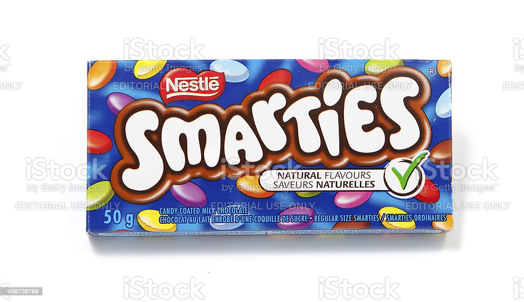 Smarties Candy Coated Milk Chocolate stock photo