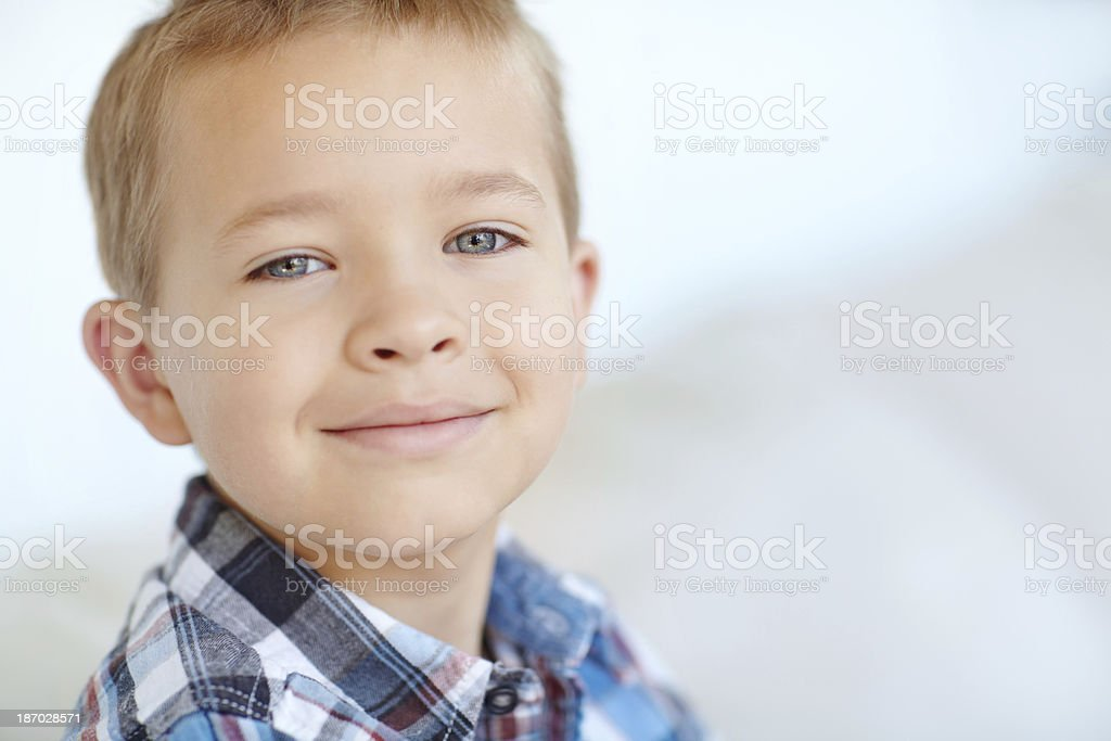 Smart-looking little man royalty-free stock photo