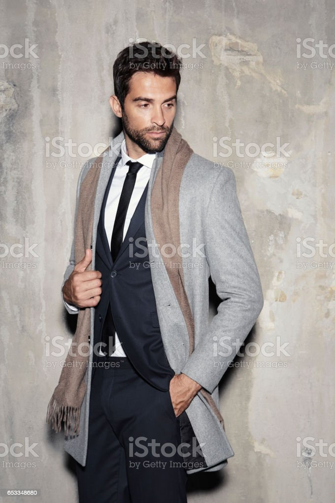 Smartly dressed dude stock photo